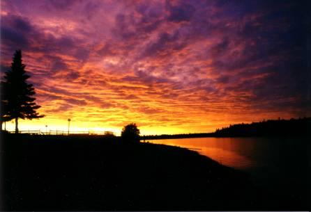 Sunset at Cedar Campus